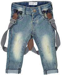 Dirkje jeansy chłopięce z szelkami