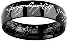 Silvego Črni jekleni obroč moči z Gospodarja prstanov in Hobita RRC5623