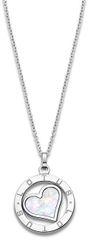 Lotus Style Ocelový náhrdelník s perleťovým srdcem LS2023-1/1