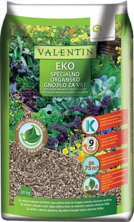 Valentin EKO specijalizirano organsko gnojivo, 20 kg