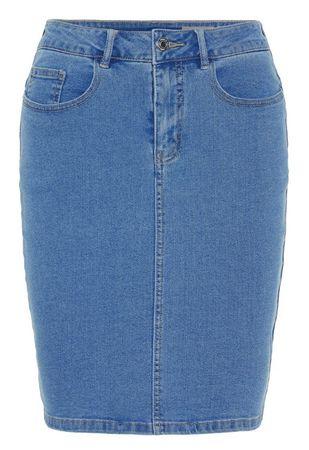 Vero Moda Žensko krilo VMHOT NINE 10193076 Light Blue Denim (Velikost XS)