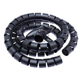 Connect IT Trubice na vedení kabelů WINDER, 1,5 m × 30 mm, černá CI-515