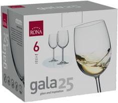 Rona Select Sklenice GALA bílé víno 250 ml 6 ks
