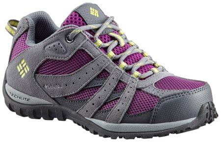 COLUMBIA buty outdoorowe dziewczęce YOUTH REDMOND WATERPROOF-Plum, Fresh Kiw 36