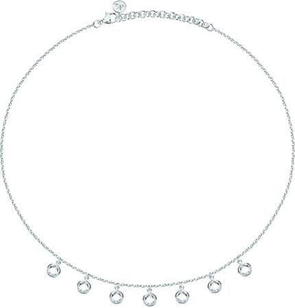 Morellato Jeklena ogrlica s kristali Gipsy SAQG04