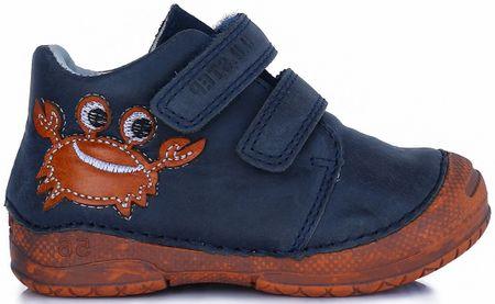 D-D-step fiú bokacipő rákkal 19 kék