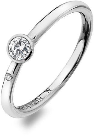 Hot Diamonds Luxus ezüst gyűrű topáz és Willow DR206 gyémánt (áramkör 58 mm) ezüst 925/1000