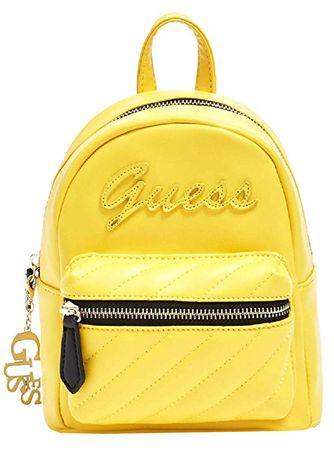 Guess Női hátizsákFactory Women`s Feliz Logo Convertible Mini Backpack Yellow
