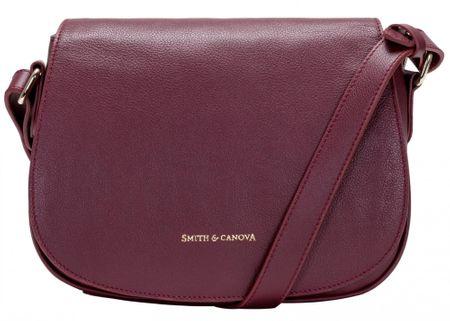 Smith & Canova crossbody kabelka vínová