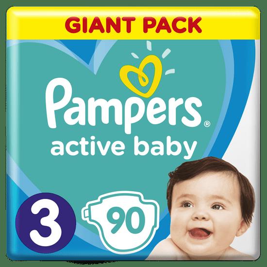 Pampers Pleny Active Baby 3 Midi (6-10 kg) Giant Pack 90 ks