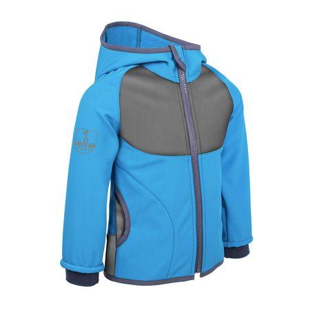 Unuo chlapecká softshellová bunda s fleecem 68 - 74 modrá