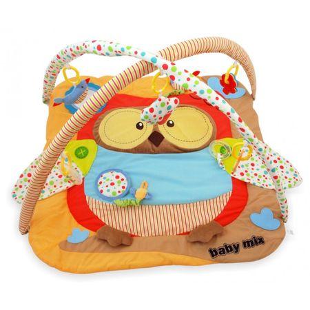 Baby Mix Játszószőnyeg játékhíddal - Bagoly