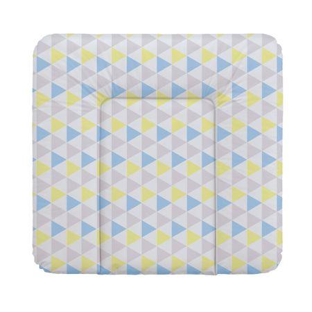 Ceba Baby Přebalovací podložka 75 x 72 cm Trojúhelníky modro-žlutá