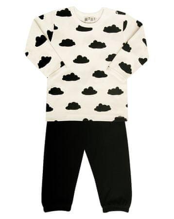Nini chlapecké pyžamo 80 bílá/černá