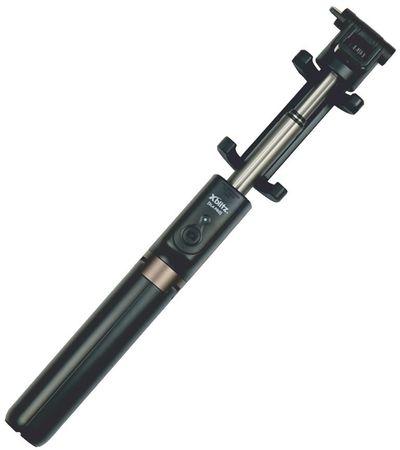 XBlitz Selfie tyč, SL4 PRO, teleskopická, se zabudovaným stativem a dálkovým ovladačem Bluetooth, otočná 3D hlava