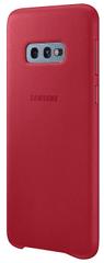 Samsung maska za Samsung Galaxy S10e, kožna, crvena