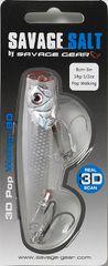 Savage Gear Wobler 3D Minnow Pop White Flash