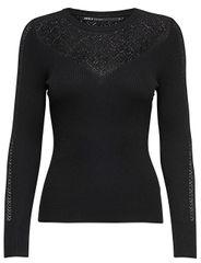 ONLY Dámsky sveter New Oda L/S Pullover Knit Black