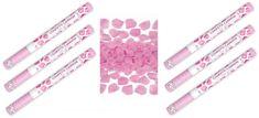 Konfety svadobné 60 cm 6 ks ružové okvetné lístky