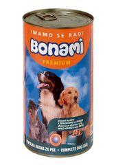 Bonami mokra hrana za pse, divjačina in riž, 1230 g