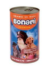 Bonami mokra hrana za pse, jagnje in divjačina, 1230 g