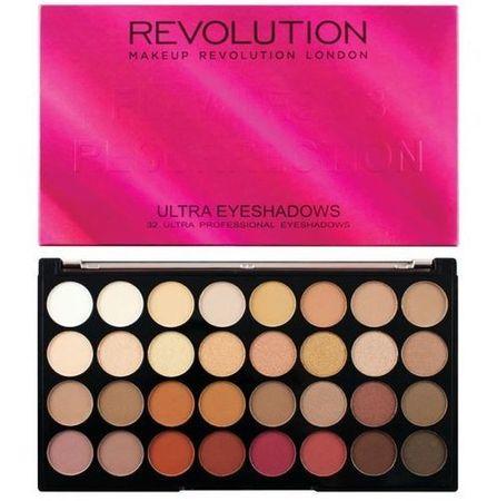 Makeup Revolution Paletka 32 očních stínů Ultra Flawless 3 Resurrection (Ultra 32 Shade Eyeshadow) 20 g