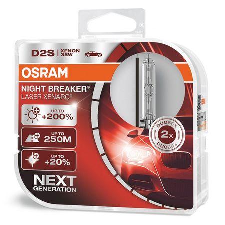 Osram Xenonová výbojka D2S, Xenarc Night Breaker Laser, 35W, P32d-2, 2 kusy