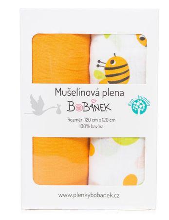 Bobánek muslinske plenice Duo Pack - čebele