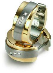 Boccia Titanium Pozłacane kolczyki z diamentami 0560-04 tytanu