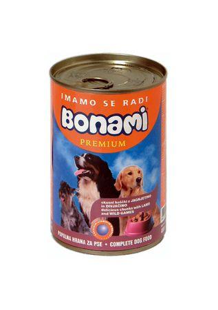 Bonami limenka za pse, janjetina i divljač, 400 g