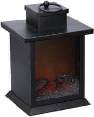 TimeLife Lucerna s imitací krbového plamene 23cm