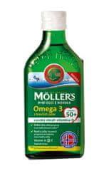 Möller´s Möller`s rybí olej Omega 3 z tresčích jater 250 ml pro dospělé 50+