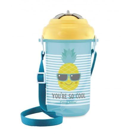 Canpol babies Cestovní sportovní láhev se slámkou a víčkem ananas 400ml