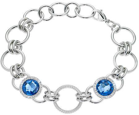 Morellato Essenza gyönyörű kék kristályokkal díszített nemesacél karkötő AGX09