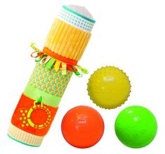Ludi otroški senzorični valj s kroglicami
