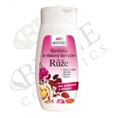Bione Cosmetics Sprchový a vlasový šampon Růže 260 ml