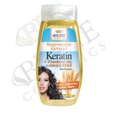 Bione Cosmetics Regeneračný šampón Keratin + Vitamínový olej z obilných klíčků 260 ml