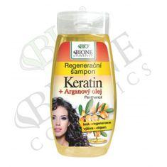 Bione Cosmetics Regenerační šampon Keratin + Arganový olej s panthenolem 260 ml