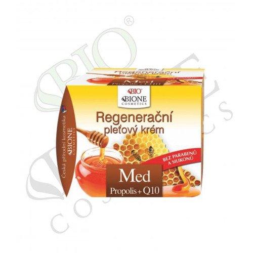 Bione Cosmetics Regeneračný pleťový krém s propolisom Med + Q10 51 ml