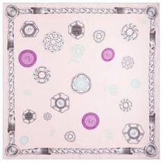 VERSACE 19.69 dámský růžový šátek Flower