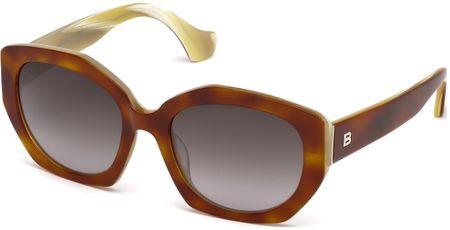 Balenciaga damskie brązowe okulary przeciwsłoneczne
