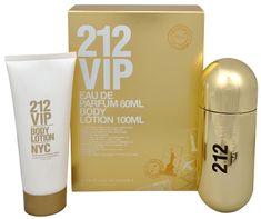 Carolina Herrera 212 VIP - parfumová voda s rozprašovačom 80 ml + telové mlieko 100 ml