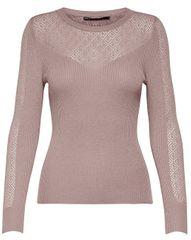 ONLY Dámsky sveter New Oda L/S Pullover Knit Deauville Mauve