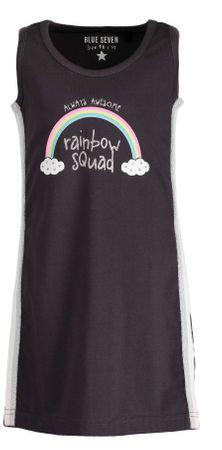 Blue Seven dievčenské šaty s dúhou 104 hnedá