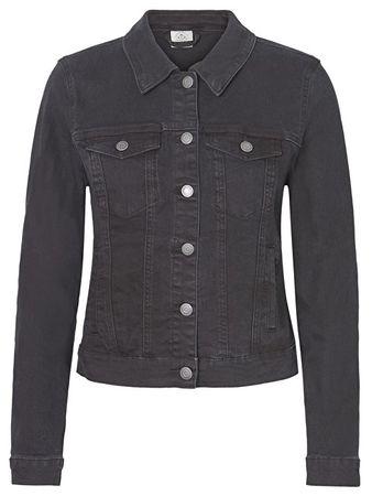 Vero Moda Női farmerdzsekiHot Soya Ls Denim Jacket Mix Noos Black (méret XS)