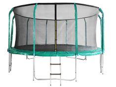 DUVLAN Trampolína SkyJump 457 cm + vnútorná sieť + schodíky