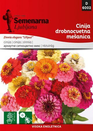Semenarna Ljubljana cinija, drobnocvetna - mešanica, 6002, mala vrečka