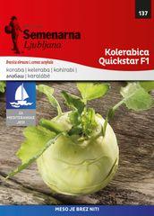 Semenarna Ljubljana kolerabica Quickstar F1, 137 Mediteran, mala vrečka