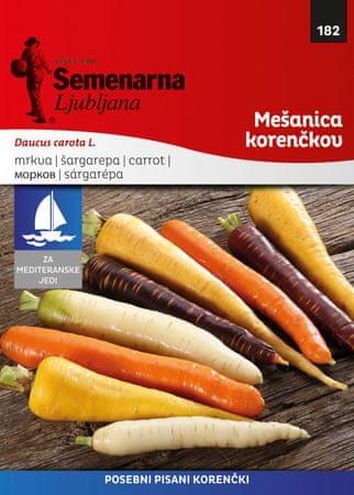 Semenarna Ljubljana mešanica korenčkov F1, 182 Mediteran, mala vrečka