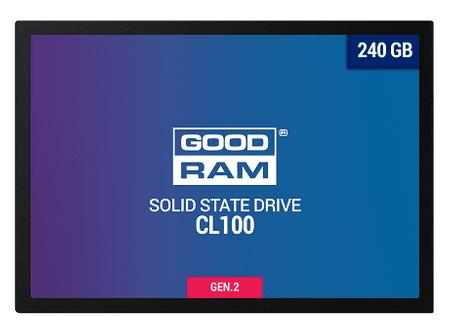 "GoodRam SSD disk CL100 240 GB, 6,35 cm (2,5""), SATA III, TLC NAND"